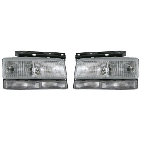 1991-96 Buick LeSabre Park Ave Composite Head Lamp Pair (Without Black Edge)