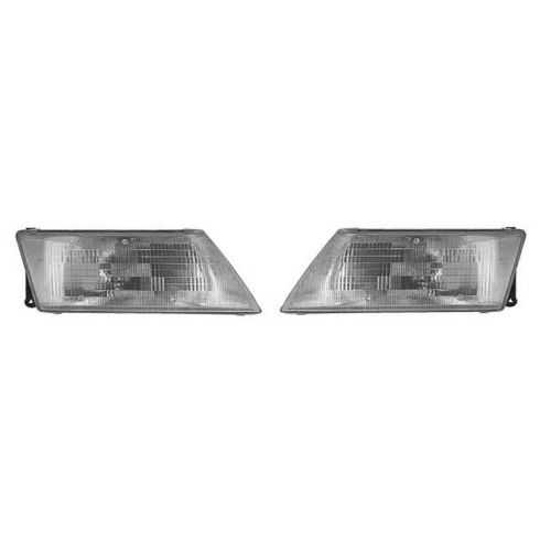 1995-98 Nissan Sentra Composite Head Lamp Pair
