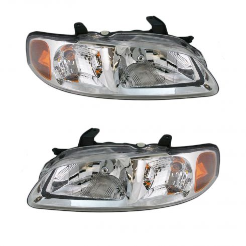 2000-03 Nissan Sentra Composite Head Lamp Combo Pair