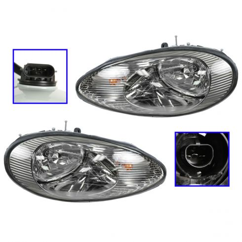 1996-99 Mercury Sable Head Lamp Pair Composite