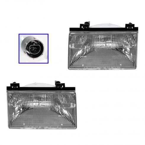 1992-94 Ford Tempo Composite Head Lamp Pair