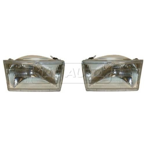 1990-94 Lincoln Town Car Composite Head Lamp Pair