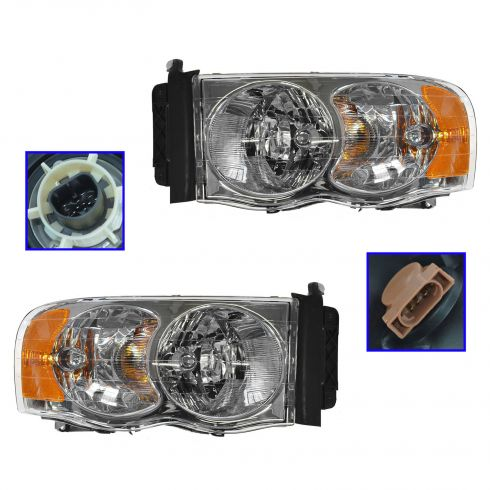2002-05 Dodge Ram Pickup Headlight Pair