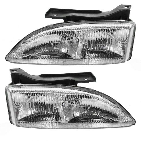 1995-99 Chevy Cavalier Composite Head Lamp Pair