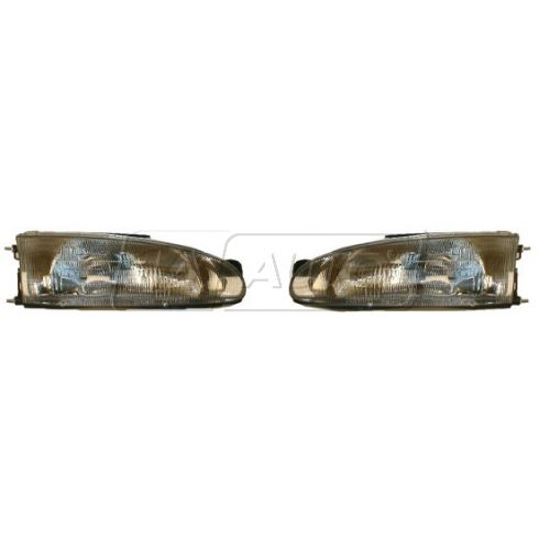 1993-96 Mitsubishi Mirage (2 dr) Composite Headlight Pair