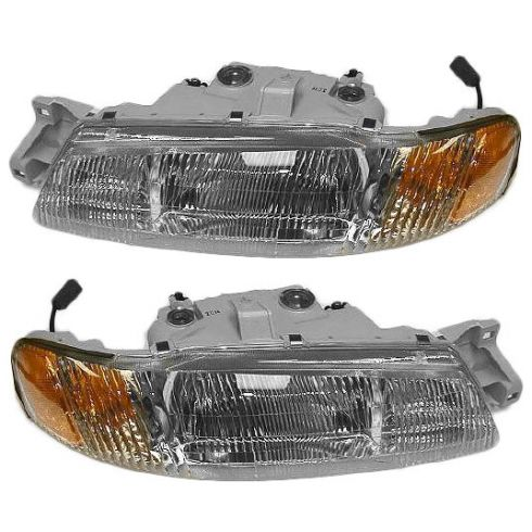 1995-97 Kia Sephia Composite Headlight Combo Pair