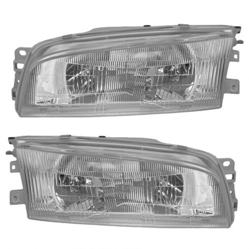 1997-01 Mitsubishi Mirage (4 door sedan) Composite headlight Pair
