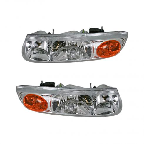 2000-02 Saturn S Series (4 Door Sedan and Station Wagon) Composite Headlight Combo Pair