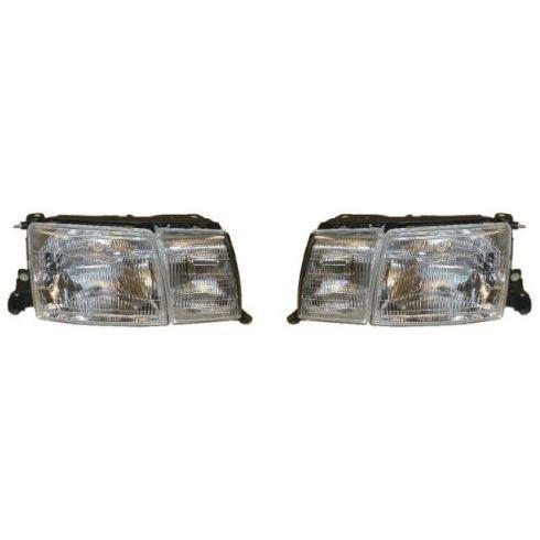 1993-94 Lexus LS400 Composite Headlight (with fog lamp) Pair