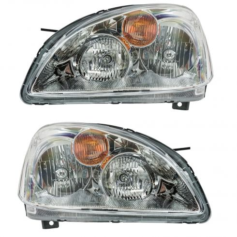 2002-04 Nissan Altima Composite Headlight Combo (wo HID Xenon) Pair