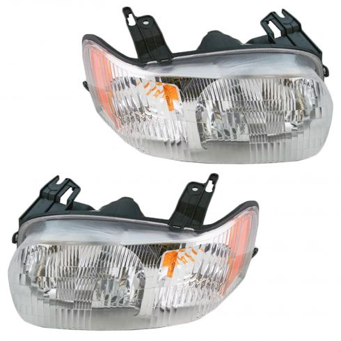 2001-04 Ford Escape Composite Headlight Combo Pair
