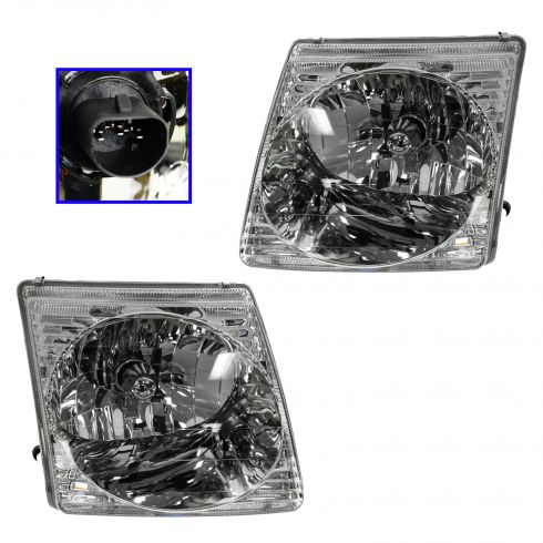 2001-03 Ford Explorer Sport Composite Headlight Pair
