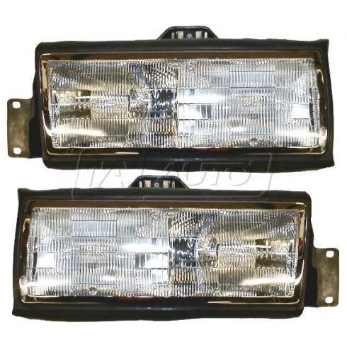 1989-90 Cadillac Deville Composite Headlight Pair