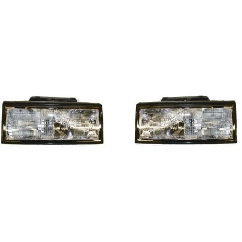 1991-93 Cadillac Deville Composite Headlight Pair