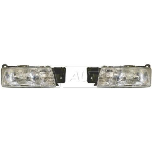 1991-94 Chevy Cavalier Composite Headlight Pair