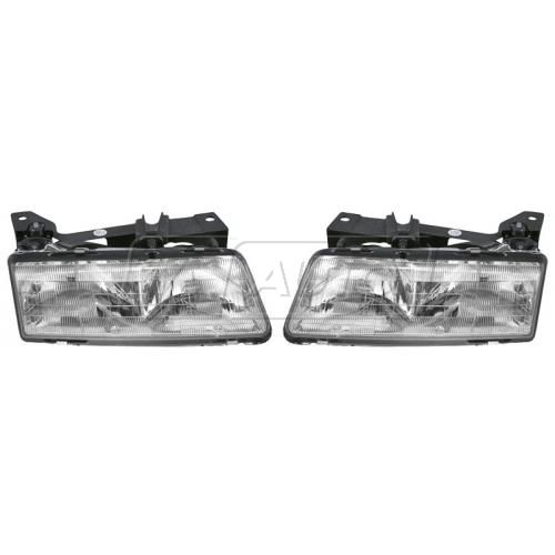 89-91 Grand Am Headlight Pair