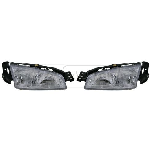 92-95 Grand Am Headlight Pair