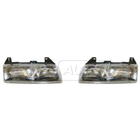 1989-96 Chevy Beretta Composite Headlight Pair