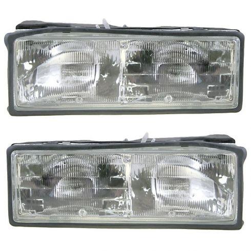 1987-90 Chevy Caprice Composite Headlight Pair