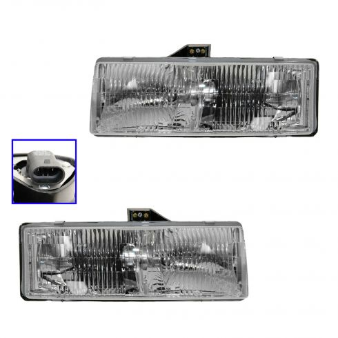 95-05 Astro Comp Headlight Pair