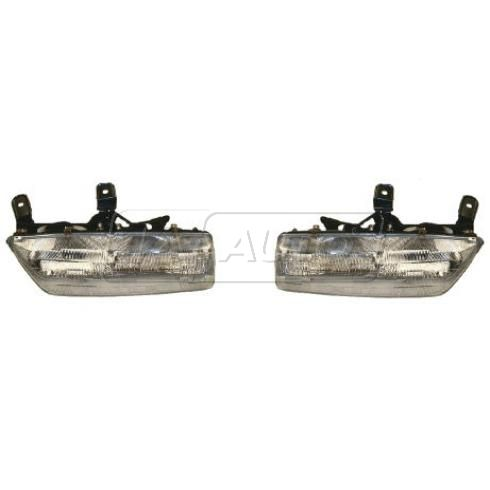 1991-92 Saturn 4 dr sedan Composite Headlight Pair
