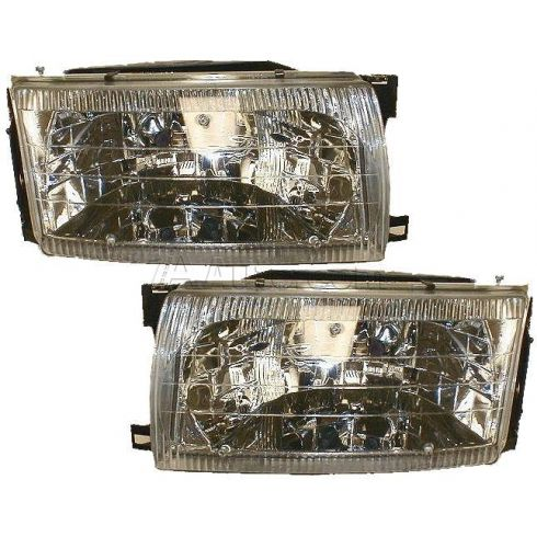 1996-98 Nissan Quest Composite Headlight Pair