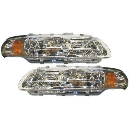 1995-96 Chrysler Sebring (2dr cpe) Composite Headlight Combo Pair