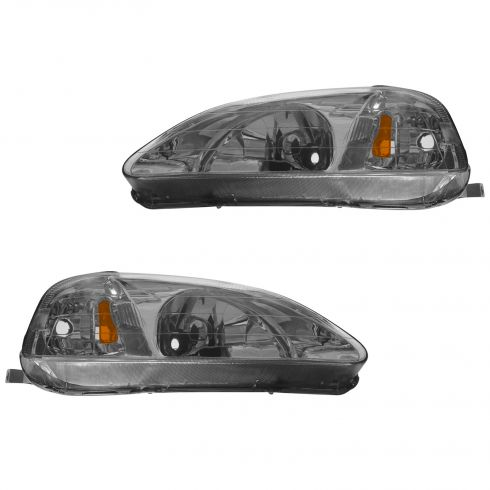 1999-00 Honda Civic Composite Headlight Combo Pair