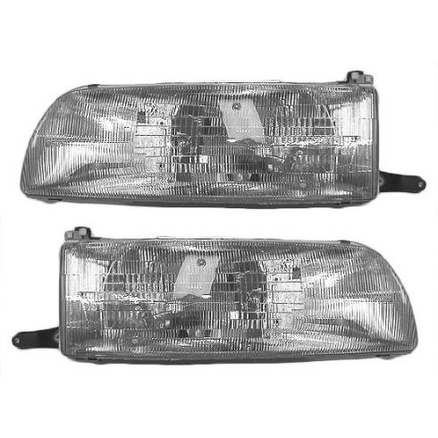 1991-93 Toyota Previa (wo Integrated Fog Lamp) Composite Headlight Pair