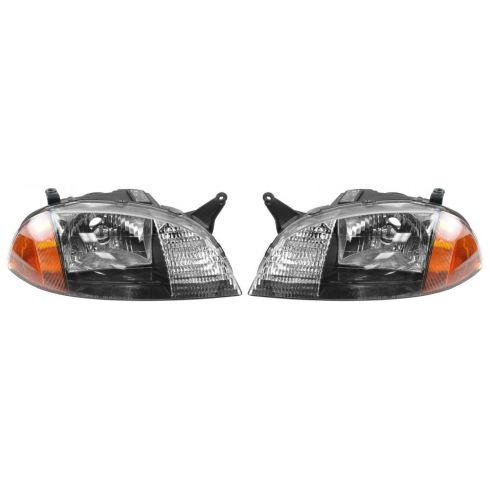 1998-01 Geo Metro Composite Headlight Combo Pair