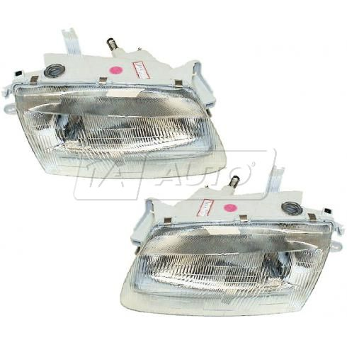 1995-96 Mazda Protege Composite Headlight Pair