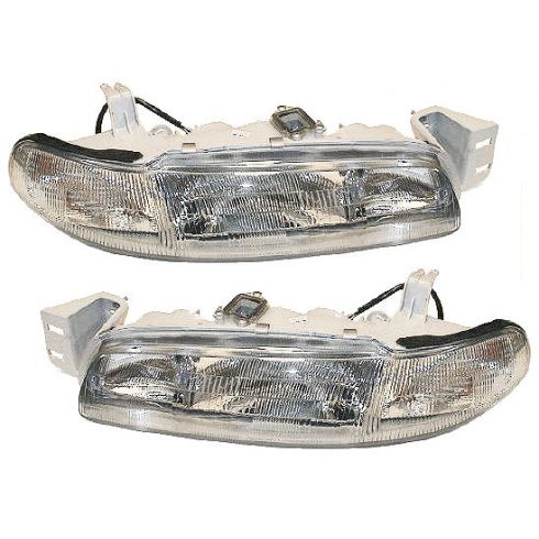 1993-97 Mazda 626 Composite Headlight Combo Pair