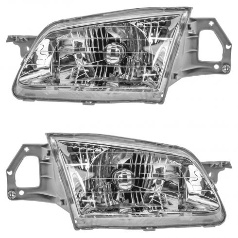 1999-00 Mazda Protege Composite Headlight Pair