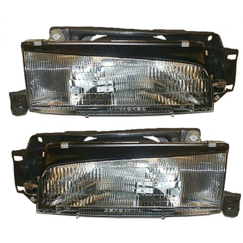 1990-95 Mazda 323 Composite Headlight Pair
