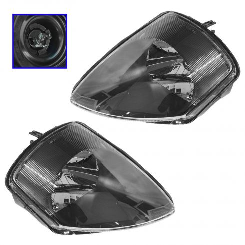 2000-02 Mitsubishi Eclipse Composite Headlight Pair
