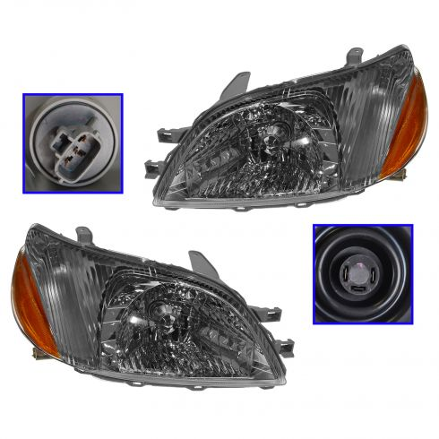 2000-02 Toyota Echo Composite Headlight Combo Pair