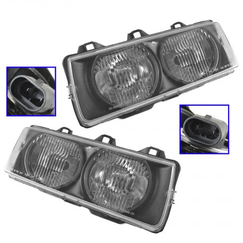 1992-99 BMW 3 Series Composite Headlight Pair