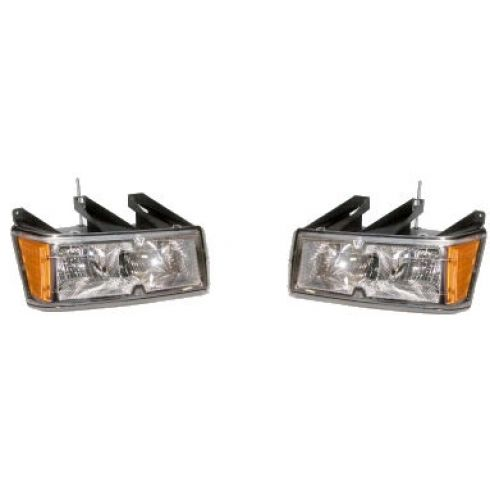 2004-05 Colorado Canyon Headlight w/ Chrome Bezel Pair