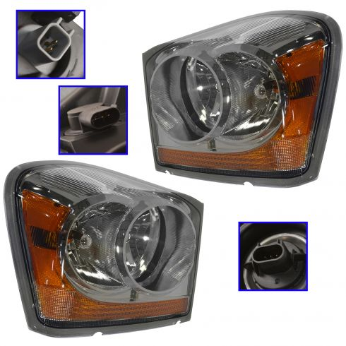 04-06 Durango Headlight Pair 55077721AD