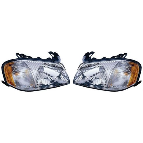 01-04 Mazda Tribute Headlight Pair