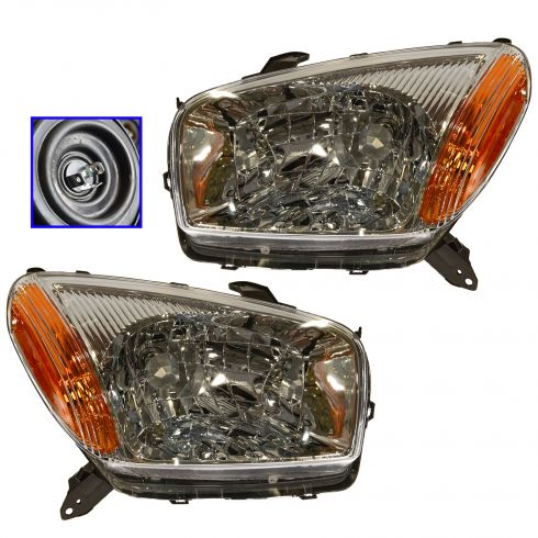 01-03 Toyota Rav 4 (w/o Sports pkg) Headlight Pair