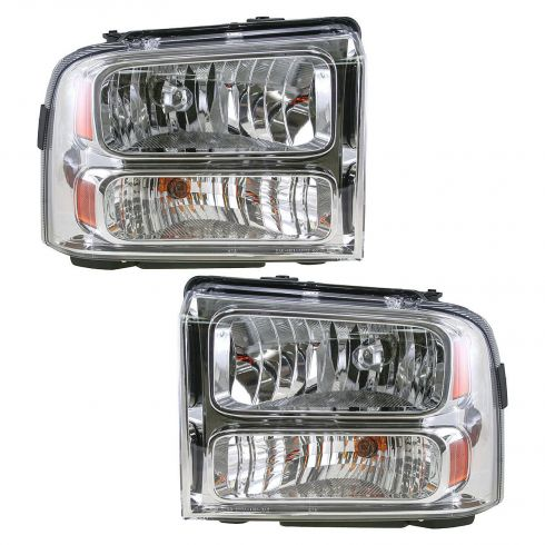 2005-07 Ford F250 F350 F450 F550 Super Duty Head Lamp Pair