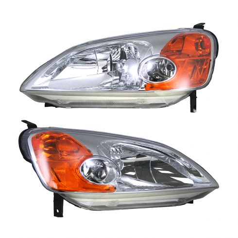 Headlight  2 Door Coupe Pair