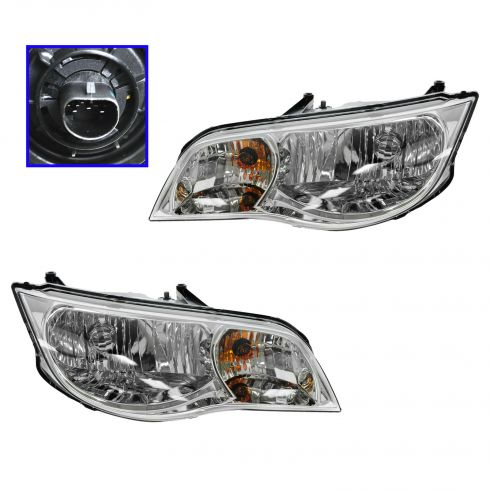 03-07 Saturn Ion Coupe Headlight PAIR