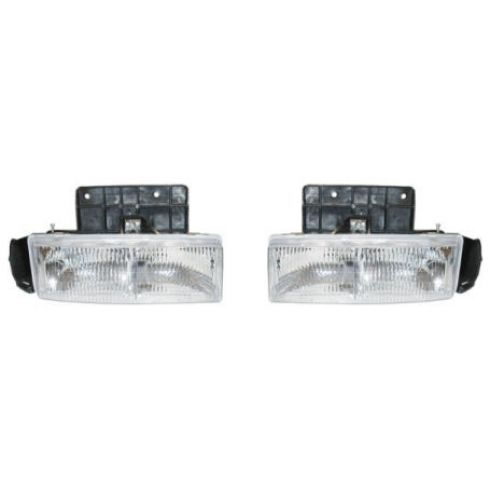 1995-04 Chevy Astro Headlight & Bracket Pair