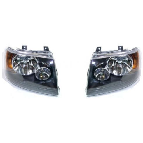 2004-06 Ford Expedition W/Black Headlight Pair