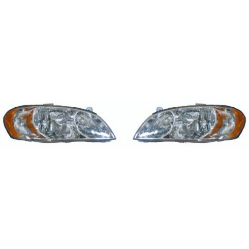 2000-04 Kia Spectra Sedan Headlight Pair