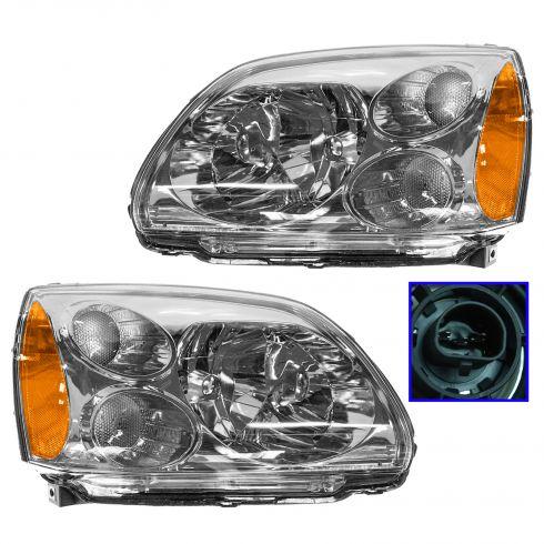 2004-06 Mitsubishi Galant DE/ES/LS Headlight Pair