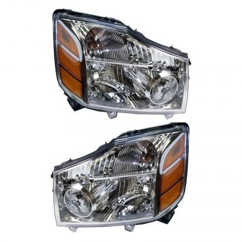 2004-07 Nissan Armada Titan Headlight Pair