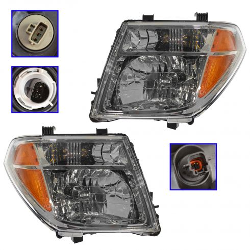 2005-07 Nissan Pathfinder Frontier Headlight Pair